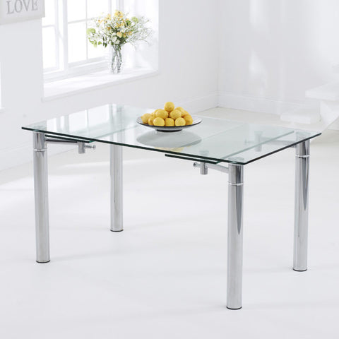 Mark Harris Grenada Extending Glass Dining Table
