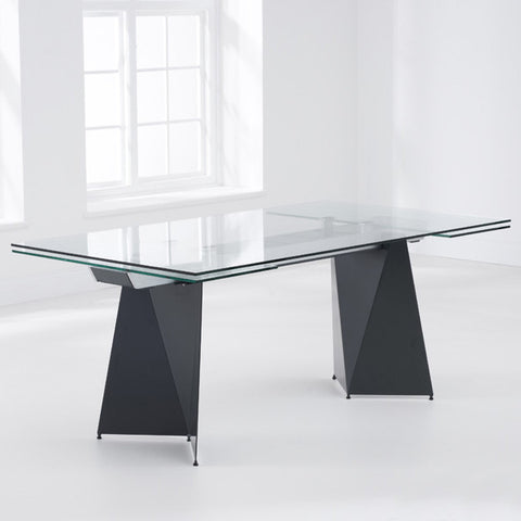 Cape Verdi Extending Glass Dining Table