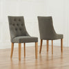Pailin Solid Oak And Fabric Chairs (Pairs) by Harley & Lola