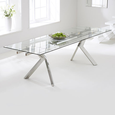 Palazzo Glass Extending Dining Table