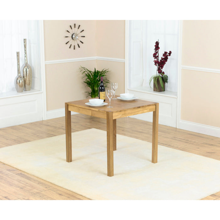 Mark Harris Promo 80cm Square Solid Oak Dining Table