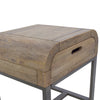 Lucy Mango Wood Side Table w Drawer