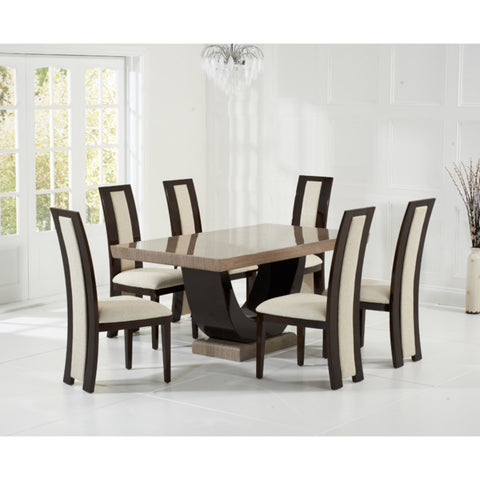 Mark Harris Rilvilino Solid Wood and High Gloss Dining Chairs (Pair)