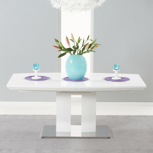 Rossini 180cm White High Gloss Extending Table - - Living Room by MHarris available from Harley & Lola - 1