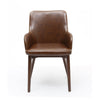 Sidcup Dining Chair (Pair) -Brown Leather - Dining Room by Shankar available from Harley & Lola - 3