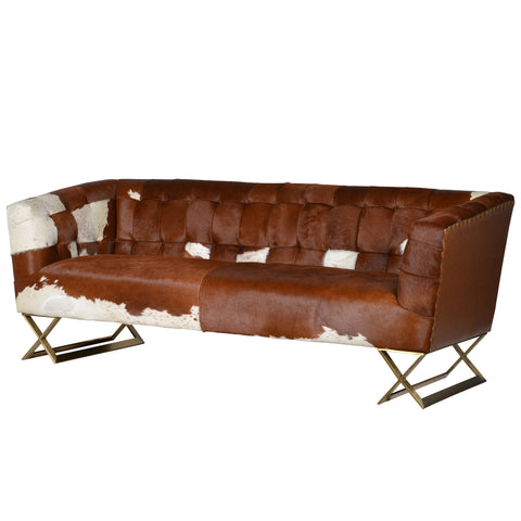 Saxo Cow Hide Sofa