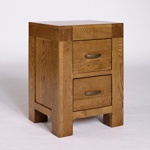 Santana Rustic Oak Bedside Cabinet - - Bedroom by Ametis available from Harley & Lola - 1