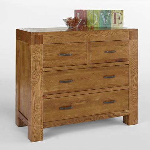 Ametis Santana Rustic Oak 2+2 Chest of Drawers