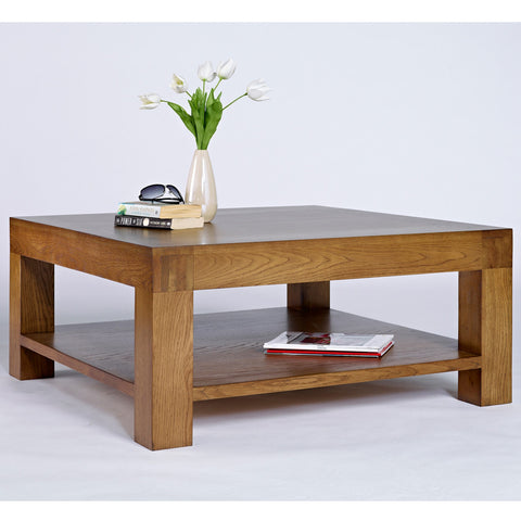 Santana Rustic Oak Square Coffee Table