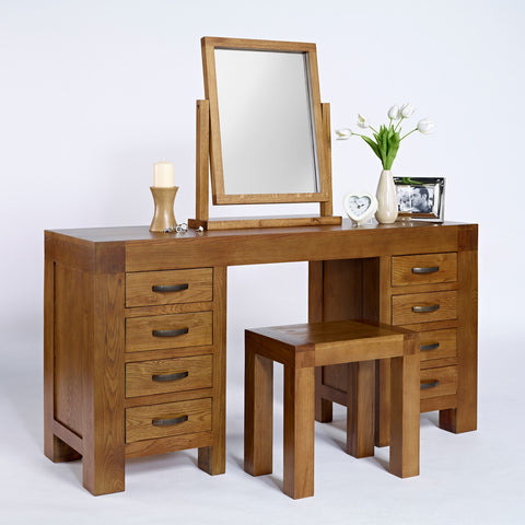 Santana Rustic Oak Dressing Table Mirror