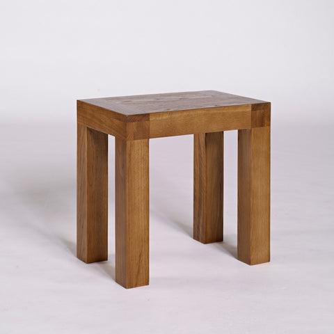 Santana Rustic Oak Dressing Table Stool