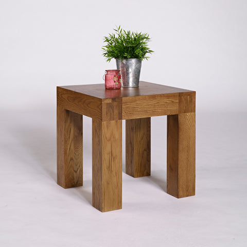 Santana Rustic Oak Lamp Table