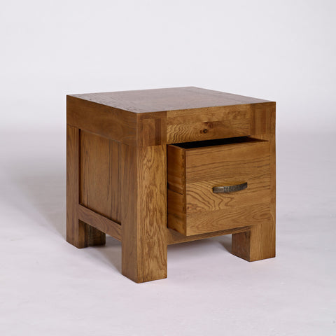 Santana Rustic Oak 1 Drawer Lamp Table