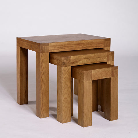 Ametis Santana Rustic Oak Nest of Tables