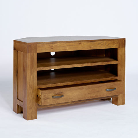 Santana Rustic Oak Corner TV Unit