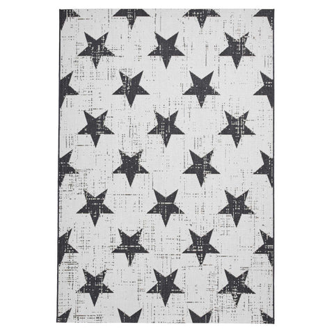 Think Rugs Santa Monica 48648 White/Black