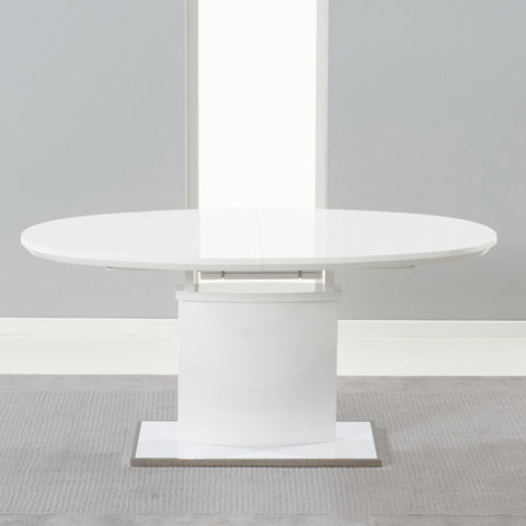 Seville 160-200Cm Ext Mdf And White Gloss Table by Harley & Lola