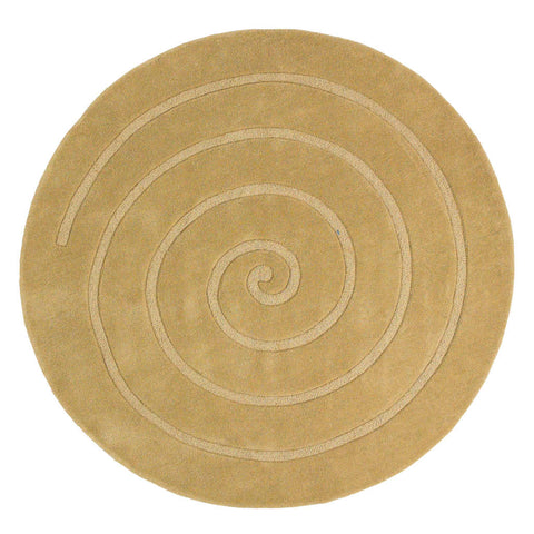 Think Rugs Spiral Gold