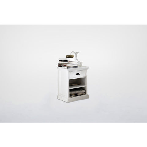 Novasolo Halifax Bedside Table with shelves