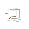 Verona Aluminium U Shape Side Table - - Garden and Conservatory by Cozy Bay available from Harley & Lola - 4