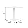 Verona Aluminium Square 2 Seater Dining Table - - Garden and Conservatory by Cozy Bay available from Harley & Lola - 3