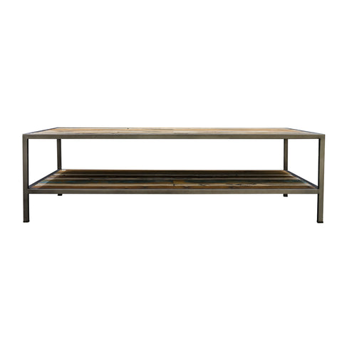 Nordic Reclaimed Evolve Coffee Table with a Shelf