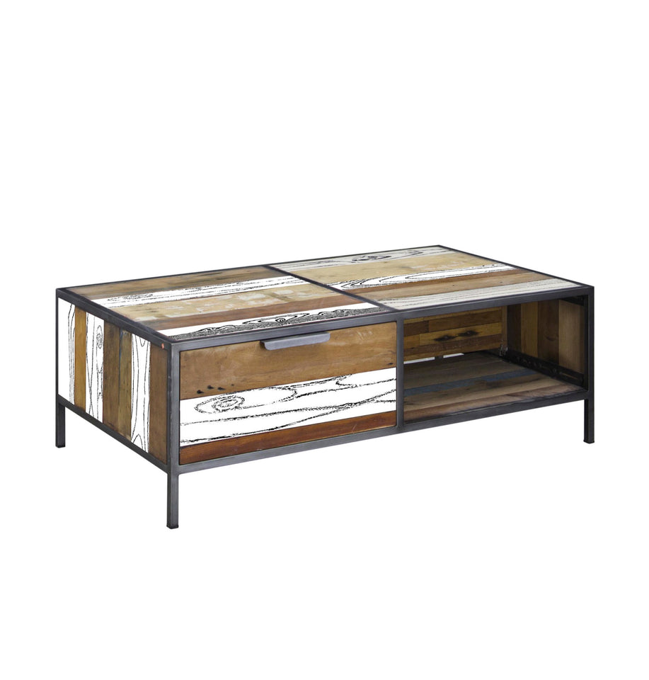 Nordic Reclaimed Evolve Coffee Table With Drawers From Harley Lola