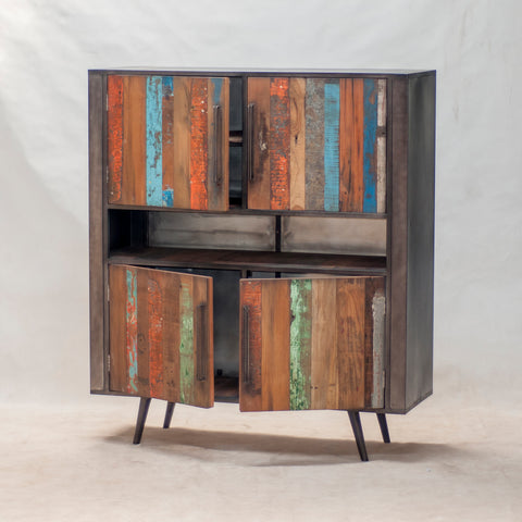 Nordic Reclaimed Buffet Sideboard 4 Doors
