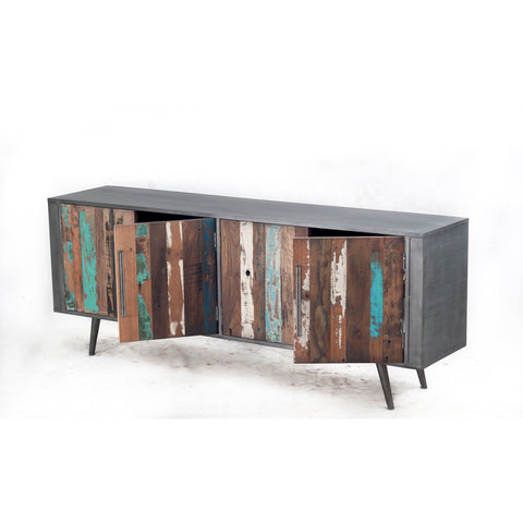 Nordic Reclaimed TV Cabinet with Doors