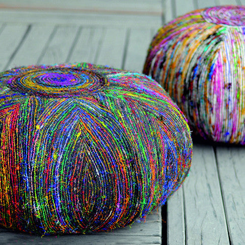 Silk Lane Pouf by Harley and Lola