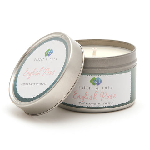 Harley and Lola Tin Candle -English Rose - Candles and Diffusers by Harley & Lola available from Harley & Lola - 1