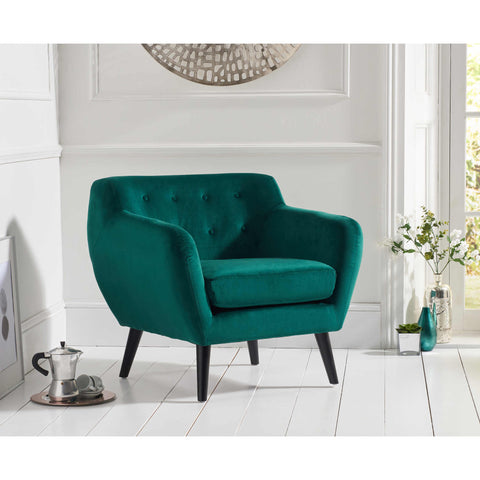 Mark Harris Tina Accent Chair - Green Velvet
