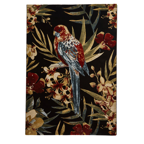 Think Rugs Tropics 6093 Black/Multi-coloured