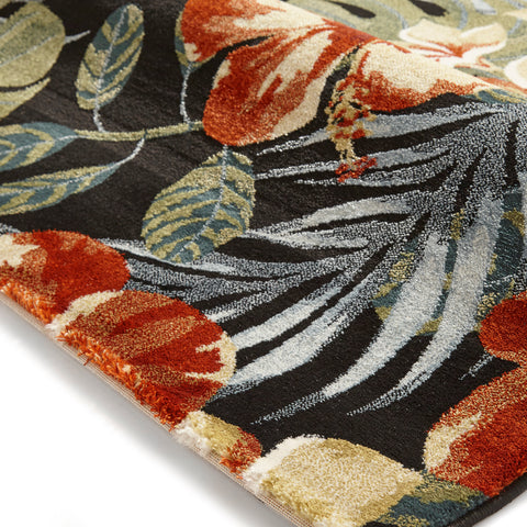 Think Rugs Tropics 6096 Black/Multi-coloured
