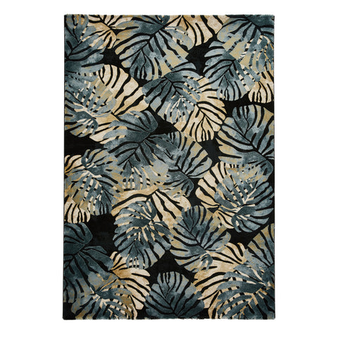 Think Rugs Tropics 6097 Black/Blue