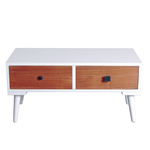 Malmo Retro Two Drawer Side Table