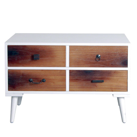 Malmo Retro Four Drawer Side Table