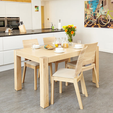 Baumhaus Olten Uno Extending Dining Table and 8 Chairs (Ivory)