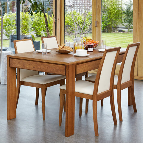 Baumhaus Olten Extending Dining Table with Drawer