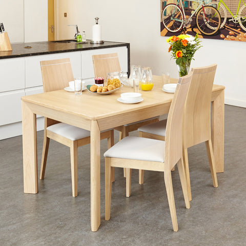 Baumhaus Olten Uno Extending Angled Leg Dining Table