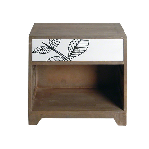 Dalston Leaf Motif Side Table
