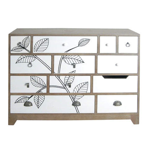 Dalston Leaf Motif Large Chest of Drawers