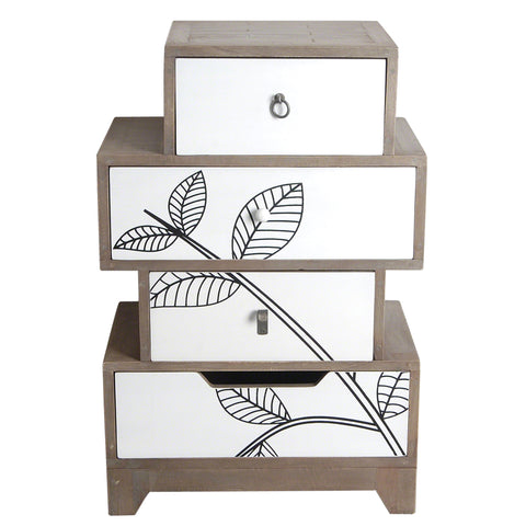 Dalston Leaf Motif Small Set of Drawers