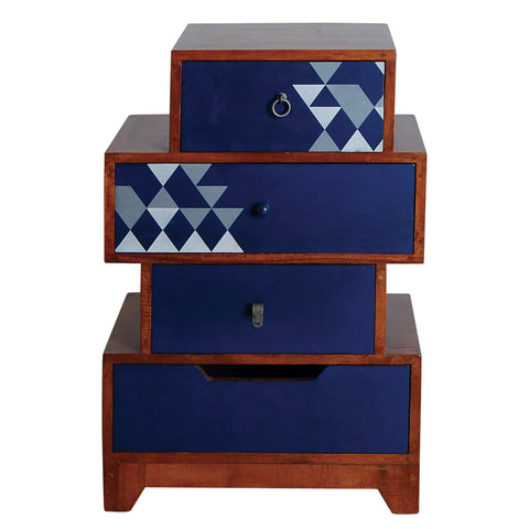 Dalston Navy Small Set of Drawers - - Living Room by Bluebone available from Harley & Lola