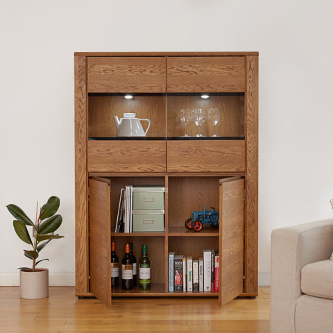 Olten Low Display Cabinet - - Living Room by Baumhaus available from Harley & Lola - 1