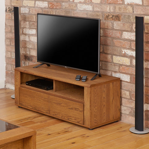 Olten Small Widescreen TV Cabinet with Two Drawers