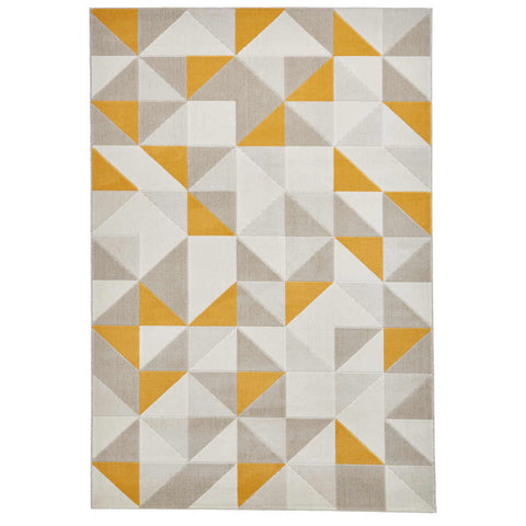 Think Rugs Vancouver 18214 Beige/Yellow