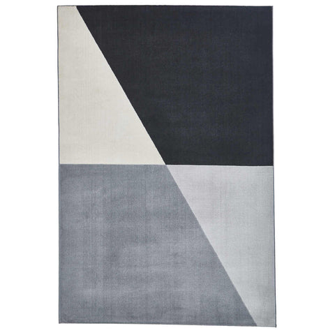 Think Rugs Vancouver 18487 Grey/Black