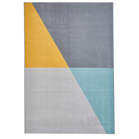 Think Rugs Vancouver 18487 Grey/Blue/Yellow