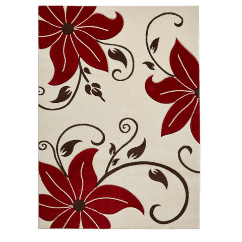 Think Rugs Verona OC15 Beige/Red
